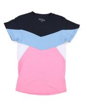 Tops - Crew Neck Color Block Tee (8-20)-2219893