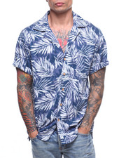 Mens-Swim - S/S Shadow Palm Waikiki Shirt-2222397