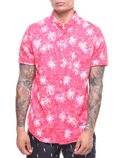 Mens-Swim - S/S Palm Sailboat Linen Shirt-2222416