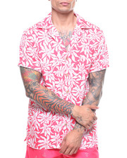 Mens-Swim - S/S Abstract Palm Waikiki Shirt-2222388