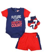 Duck Duck Goose - Bodysuit, Shorts, Socks 3pc Set (Infant)-2222826