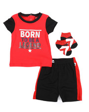 Duck Duck Goose - Tee, Shorts, Socks 3pc Set (Infant)-2222794