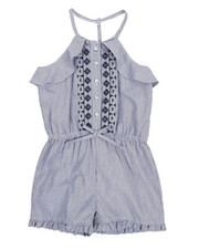 Dollhouse - Ruffle Sleeveless Romper (4-6X)-2222263