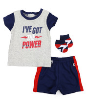 Duck Duck Goose - Tee, Shorts, Socks 3pc Set (Infant)-2222821
