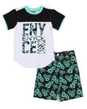 Enyce - Graphic Tee/Denim Short Set (4-7)-2222838