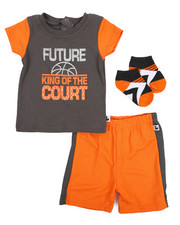 Duck Duck Goose - Tee, Shorts, Socks 3pc Set (Infant)-2222817