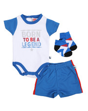 Duck Duck Goose - Bodysuit, Shorts, Socks 3pc Set (Infant)-2222782