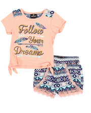 Sizes 2T-4T - Toddler - 2 Piece Short & Marled Jersey Set (2T-4T)-2222738