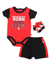 Duck Duck Goose - Body Suit, Shorts, Socks 3pc Set (Infant)-2222846