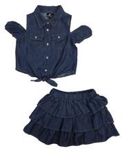 Sets - 2 Piece Chambray Skirt Set (7-16)-2222352