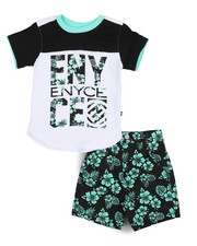 Enyce - Graphic Tee/Denim Short Set (Infant)-2222813