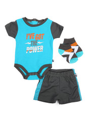 Duck Duck Goose - Bodysuit, Shorts, Socks 3pc Set (Infant)-2222790
