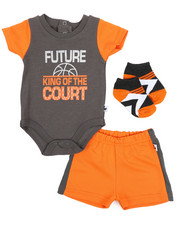 Duck Duck Goose - Bodysuit, Shorts, Socks 3pc Set (Infant)-2222834
