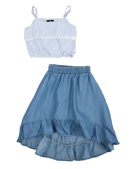 Dollhouse - 2Pc Chambray Maxi Skirt Set (4-6X)