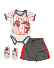 Duck Duck Goose - 3 Piece Knit Short Set (Infant)-2222774