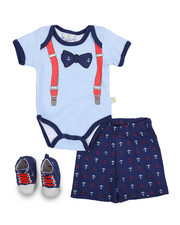 Duck Duck Goose - 3 Piece Knit Short Set (Infant)-2222770