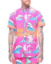 Pink Dolphin - SUMMER SPLASH S/S BUTTON UP-2223666