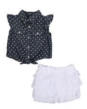 Sets - 2 Piece Crochet Short Set (2T-4T)-2222393