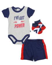 Duck Duck Goose - Bodysuit, Shorts, Socks 3pc Set (Infant)-2222842