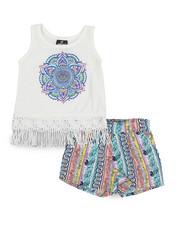 Dollhouse - 2 Piece Short & Graphic Tank Top Short Set (4-6X)-2222722