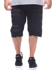 Shorts - Basic Knee Split Denim Short (B&T)-2223591