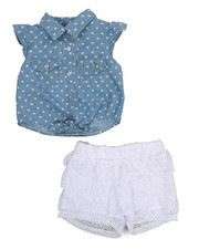 Dollhouse - 2 Piece Crochet Short Set (2T-4T)-2222474