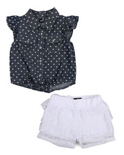 Dollhouse - 2 Piece Crochet Short Set (4-7)-2222434