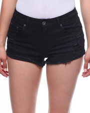 Shorts - Frayed Hem Denim Short-2221924