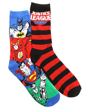 Socks - Justice League 2 Pack Crew Socks-2221692