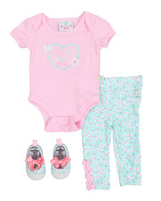 Infant & Newborn - 3 Piece Knit Pant Set (Infant)-2222208