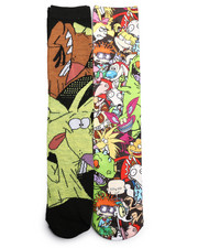 Socks - Nickelodeon 2 Pack Photoreal Crew Socks-2221687