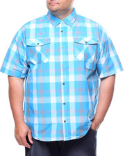 Button-downs - S/S Yarn Dyed Plaid Woven Shirt (B&T)-2225108