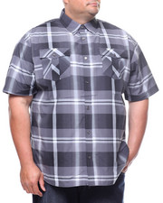 Button-downs - S/S Yarn Dyed Plaid Woven Shirt (B&T)-2225045