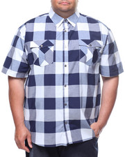 Button-downs - S/S Yarn Dyed Plaid Woven Shirt (B&T)-2225223