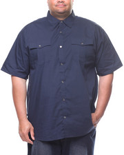 Buyers Picks - S/S Solid Woven Shirt (B&T)-2225255