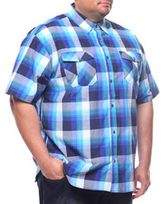 Button-downs - S/S Yarn Dyed Plaid Woven Shirt (B&T)-2225130