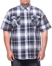 Button-downs - S/S Yarn Dyed Plaid Woven Shirt (B&T)-2225185