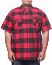 Button-downs - S/S Yarn Dyed Plaid Woven Shirt (B&T)-2225228