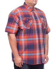 Button-downs - S/S Yarn Dyed Plaid Woven Shirt (B&T)-2225055