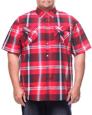 Button-downs - S/S Yarn Dyed Plaid Woven Shirt (B&T)-2225151