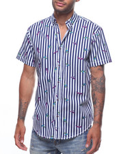 Mens-Swim - BIRDS OF PARADISE S/S WOVEN SHIRT-2225293