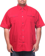 Big & Tall - S/S Solid Woven Shirt (B&T)-2225265