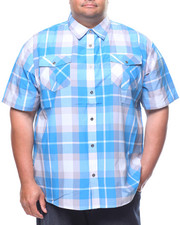 Button-downs - S/S Yarn Dyed Plaid Woven Shirt (B&T)-2225093