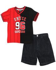 Enyce - V-Neck Jersey/Denim Short Set (2T-4T-2222878