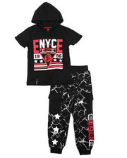 Enyce - Graphic Hoodie w/Jogger Long Set (4-7)-2223749