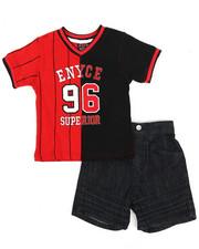 Enyce - V-Neck Jersey/Denim Short Set (Infant)-2222862