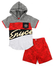 Enyce - Graphic Hoodie/Denim Short Set (Infant)-2222940
