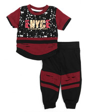 Enyce - Graphic Tee w/Jogger Long Set (Infant)-2223808