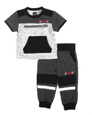Enyce - Two Piece Short Sleeves Jogger Set (Infant)-2223674