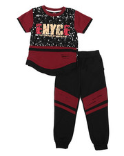 Enyce - Graphic Tee w/Jogger Set (4-7)-2223823